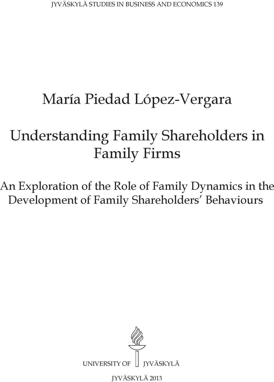 An Exploration of the Role of Family Dynamics in the Development