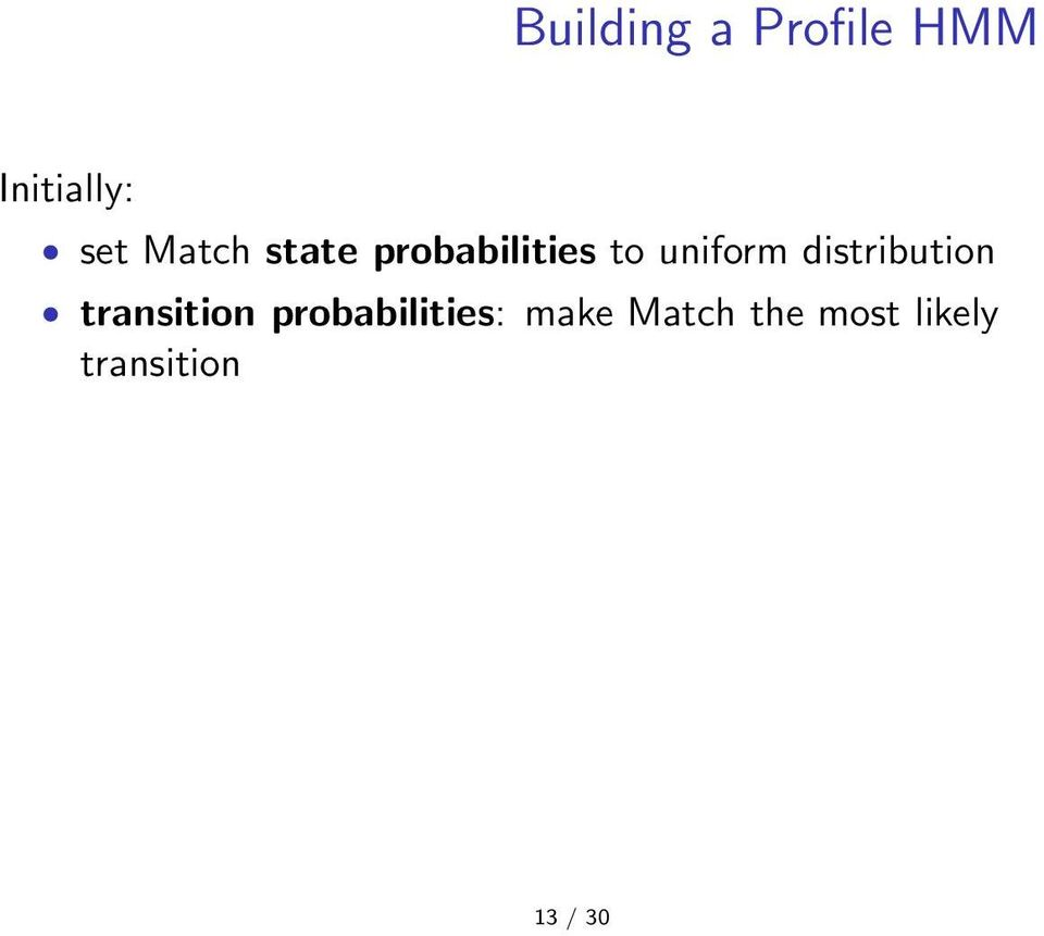 distribution transition probabilities: