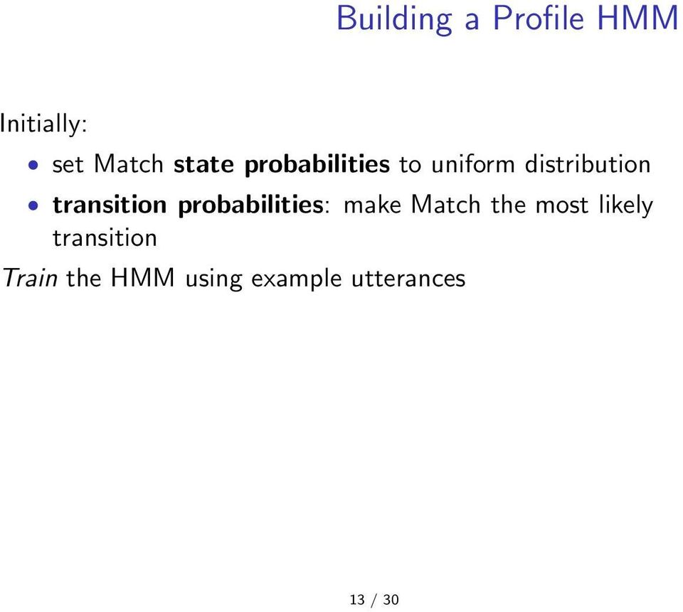 probabilities: make Match the most likely