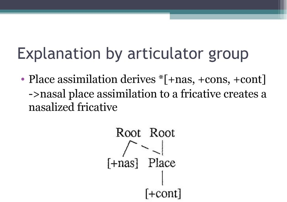 +cont] ->nasal place assimilation to a