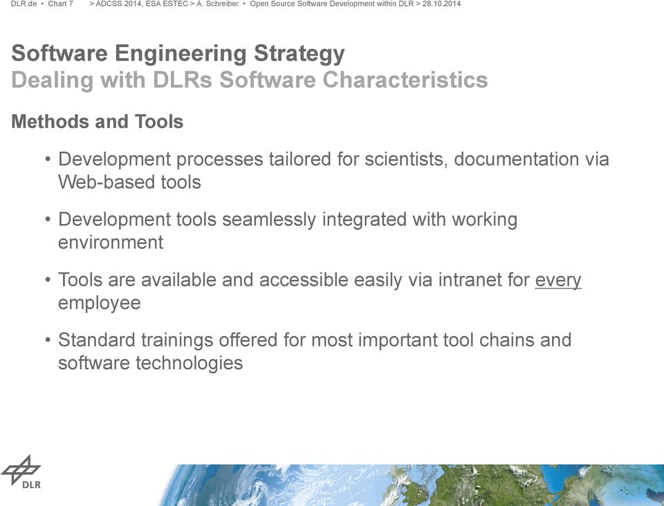 Open Source Software Development within DLR  Andreas
