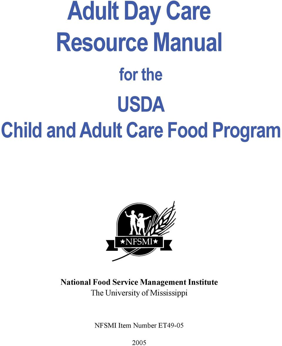 Food Service Management Institute The