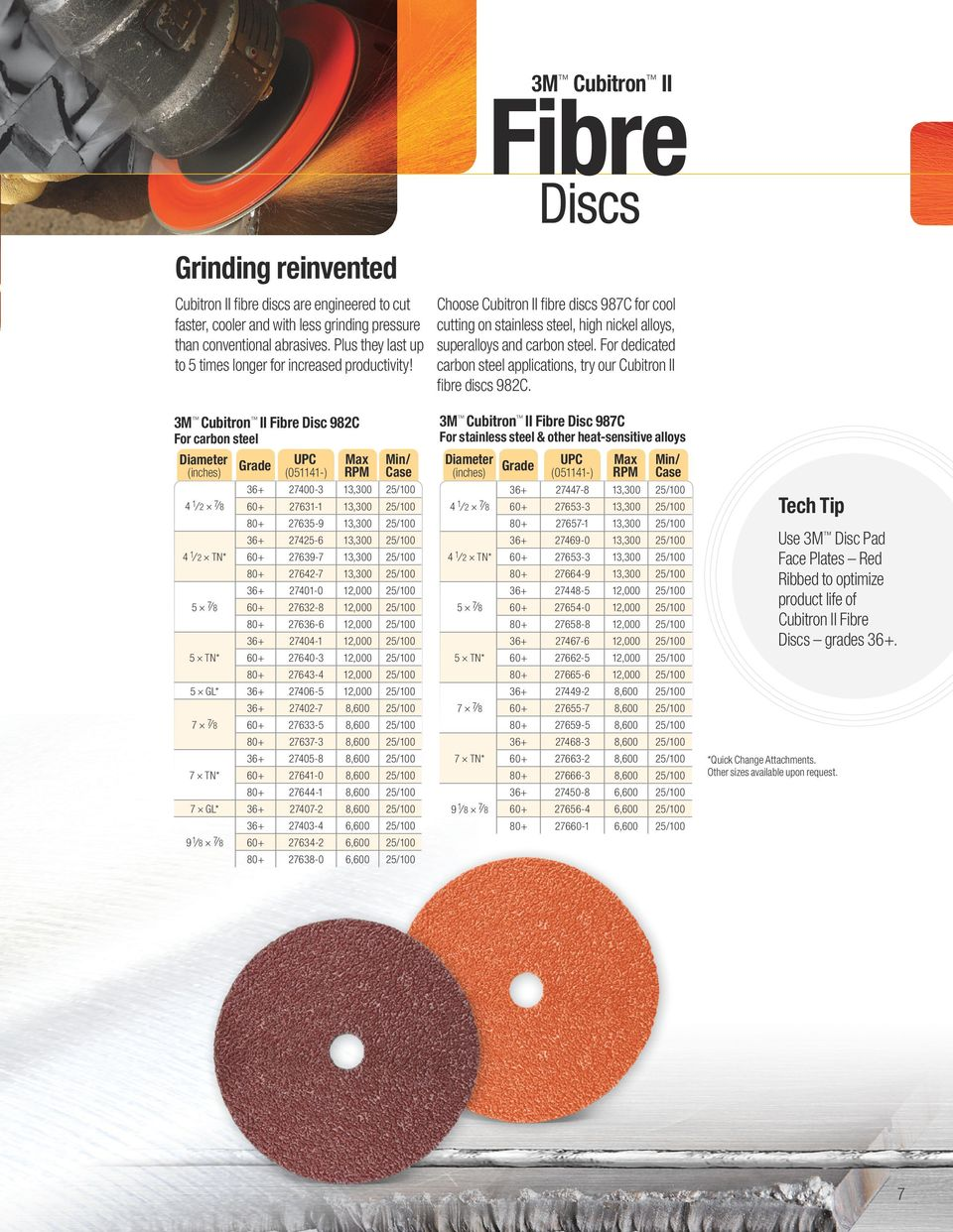 For dedicated carbon steel applications, try our Cubitron II fibre discs 982C.