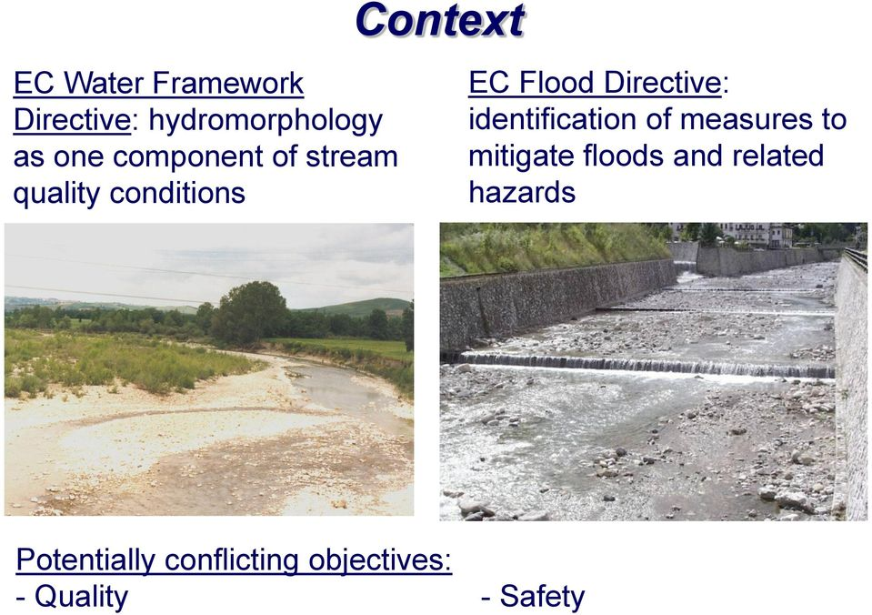 Directive: identification of measures to mitigate floods