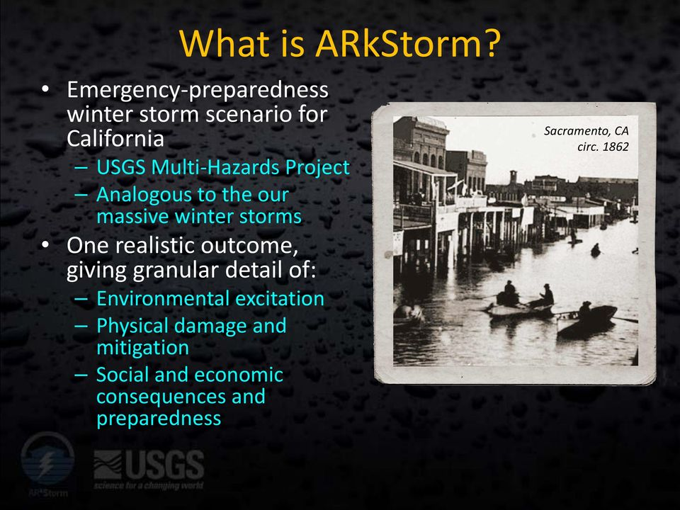 Project Analogous to the our massive winter storms One realistic outcome, giving