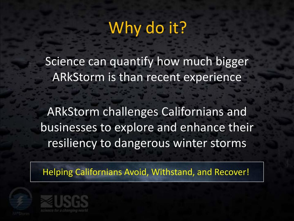 experience ARkStorm challenges Californians and businesses to