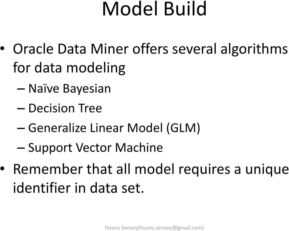 Generalize Linear Model (GLM) Support Vector Machine