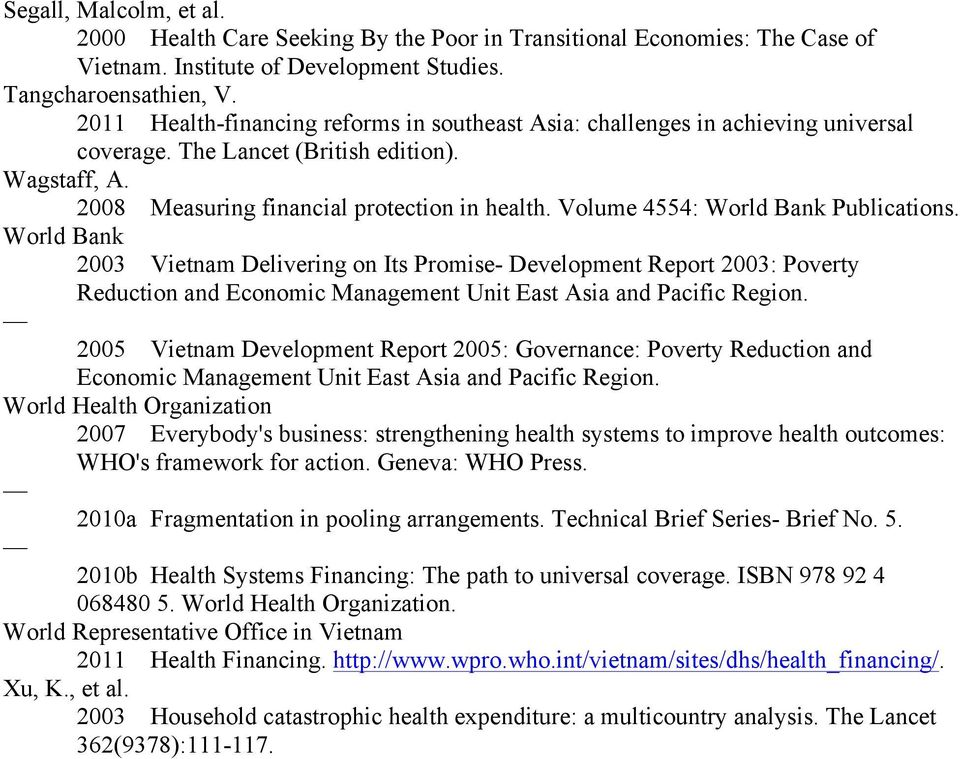 Volume 4554: World Bank Publications. World Bank 2003 Vietnam Delivering on Its Promise- Development Report 2003: Poverty Reduction and Economic Management Unit East Asia and Pacific Region.
