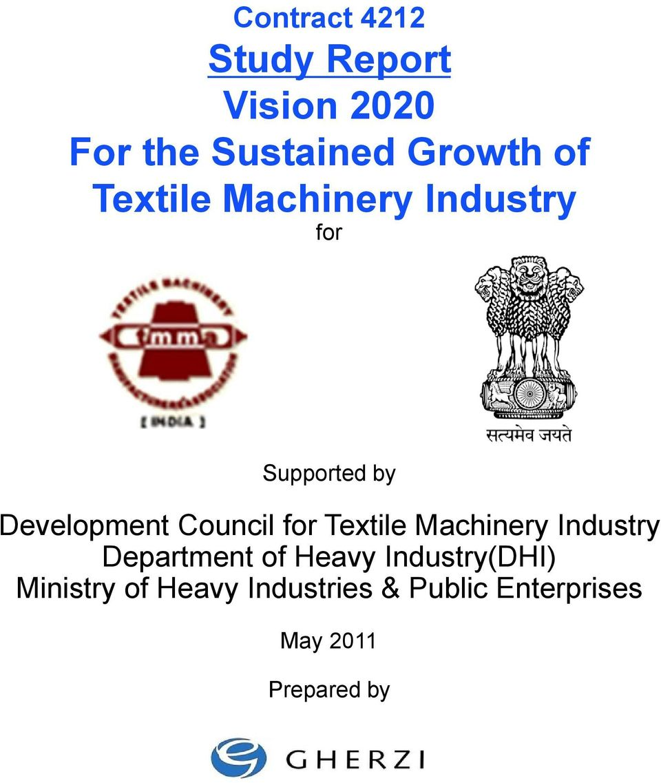 Textile Machinery Industry Department of Heavy Industry(DHI)