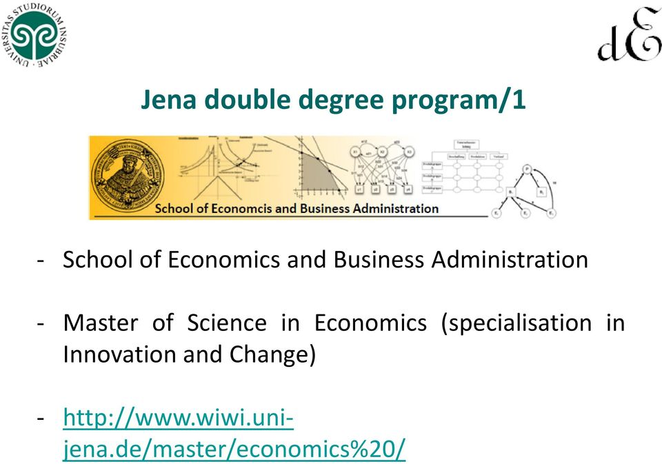 Economics (specialisation in Innovation and