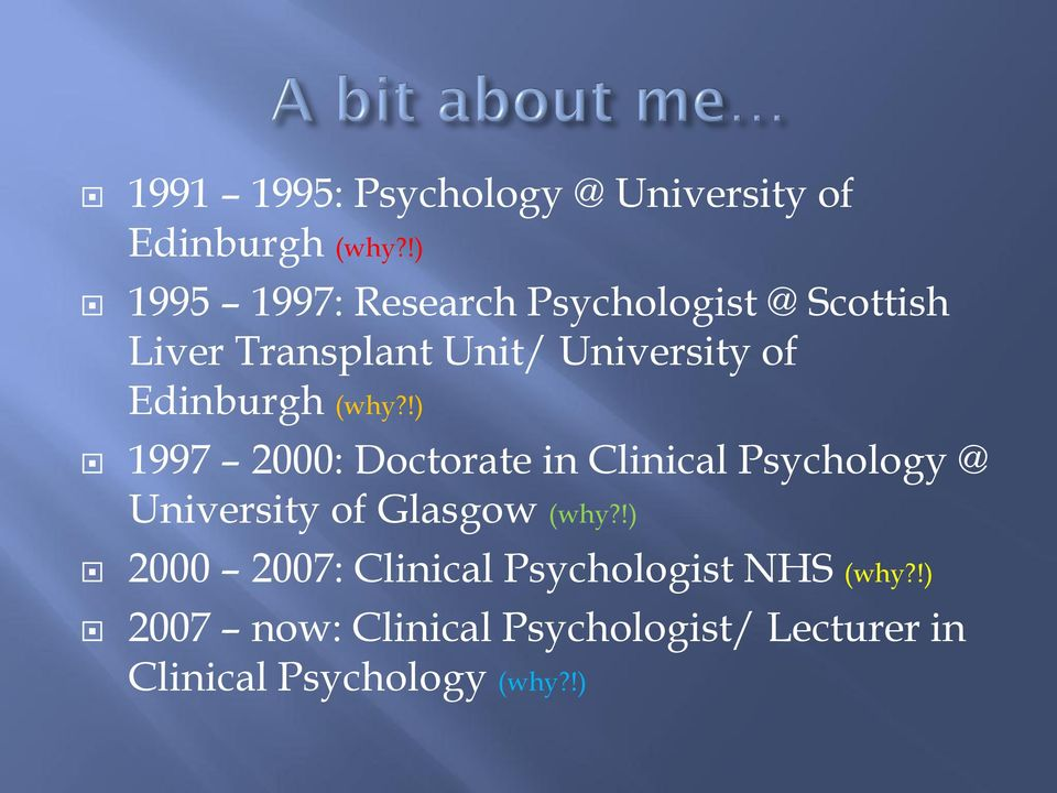 Clinical Psychology glasgow universities list