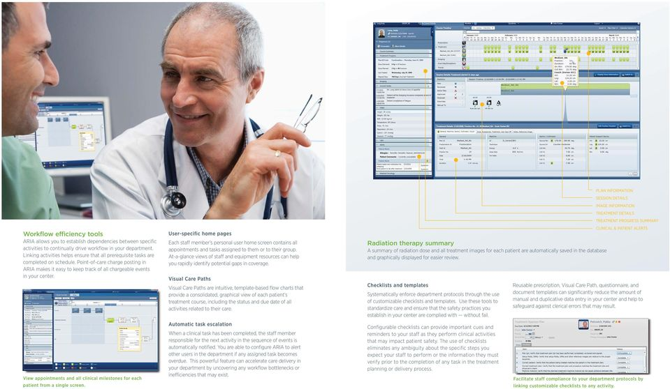 View appointments and all clinical milestones for each patient from a single screen.