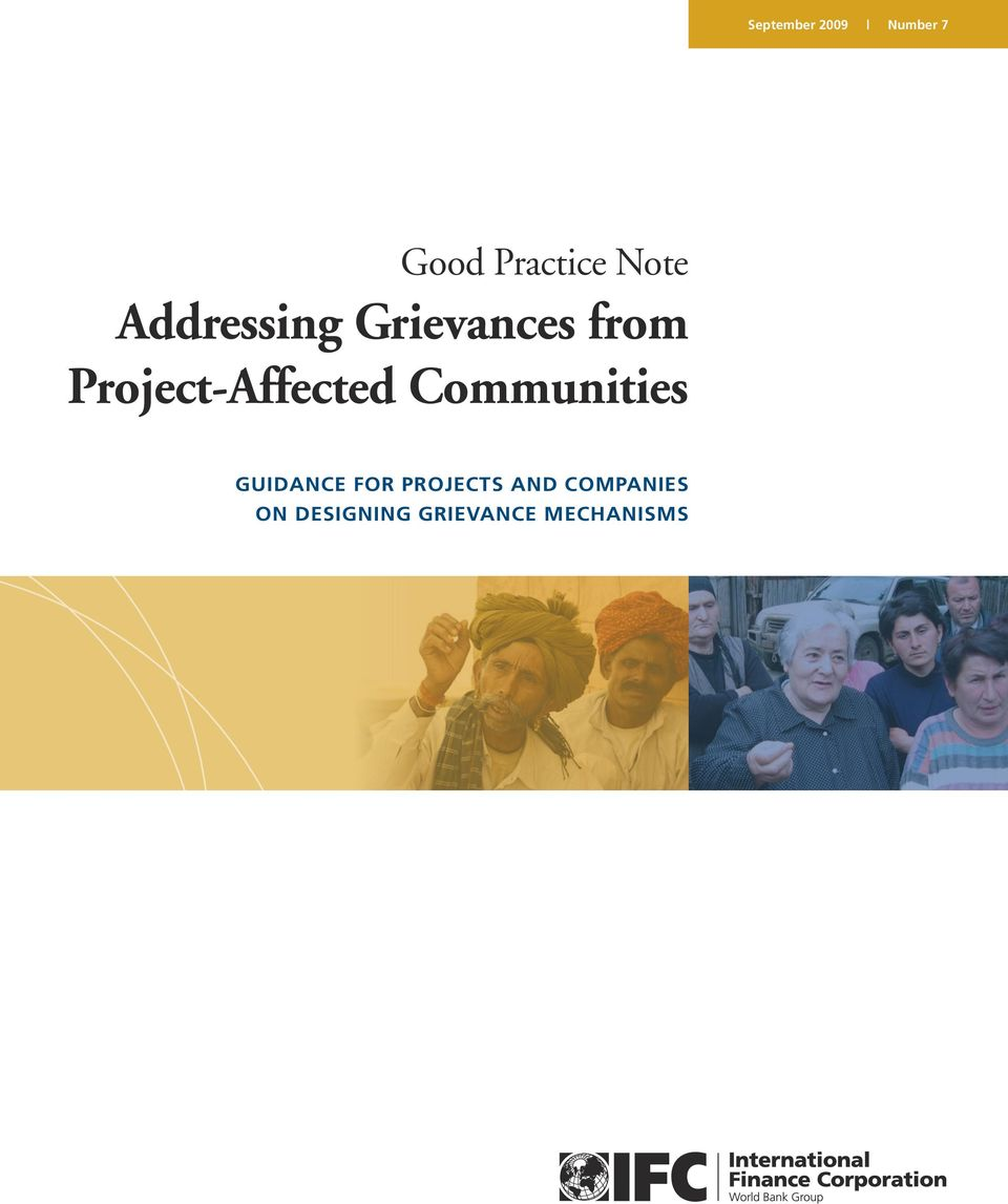 Project-Affected Communities GUIDANCE FOR