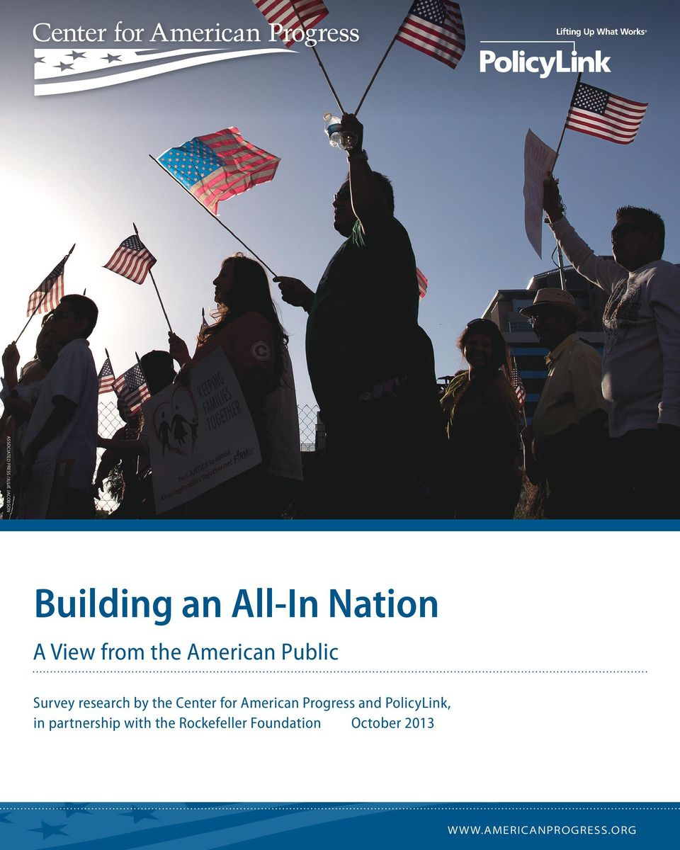 for American Progress and PolicyLink, in partnership with the