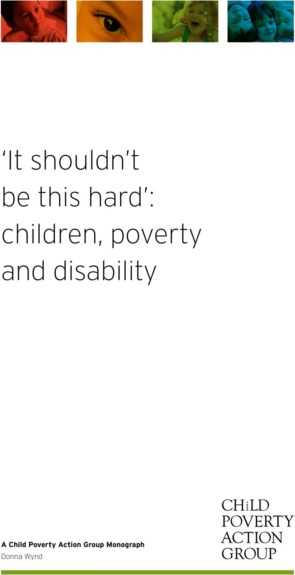 disability A Child Poverty