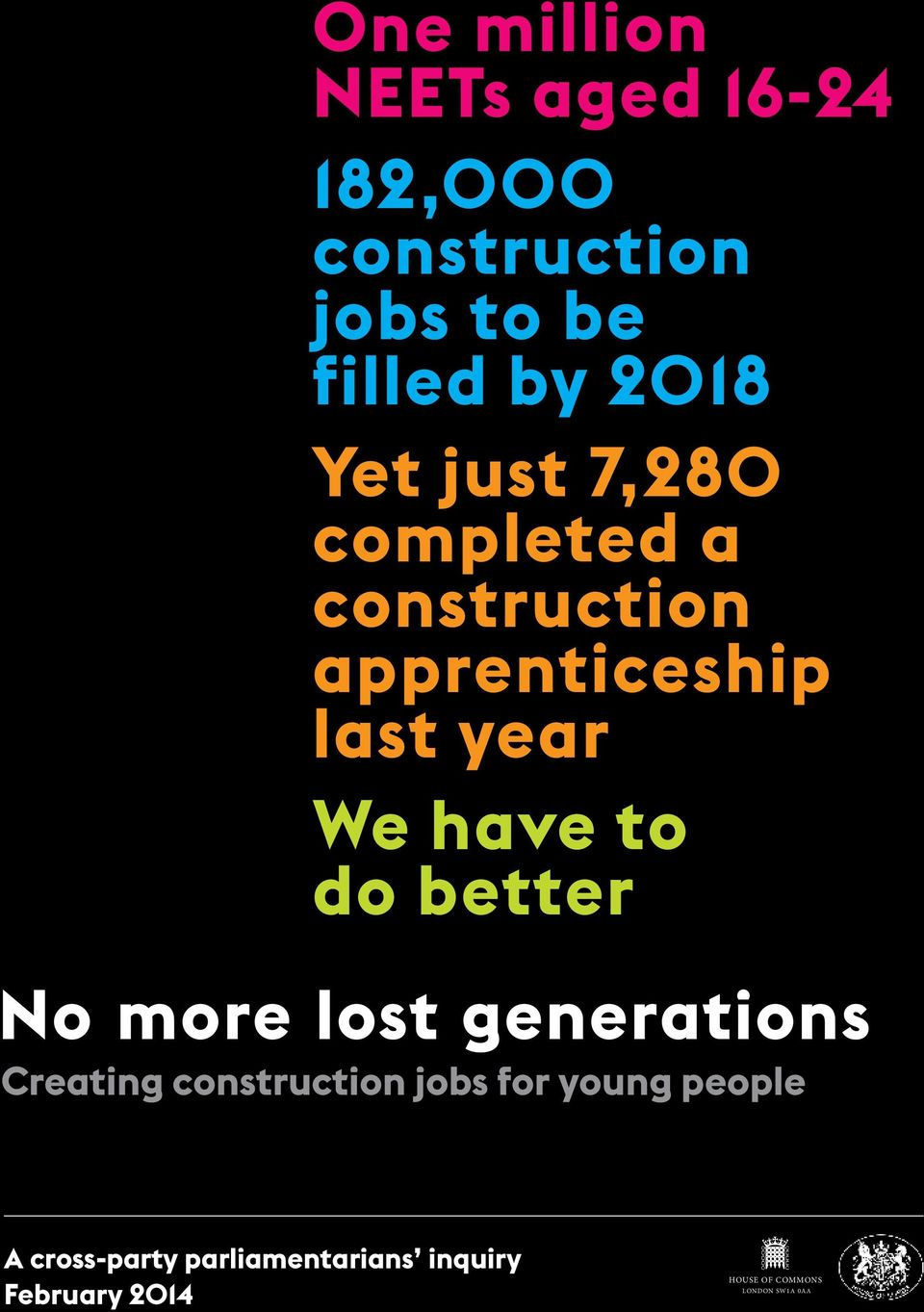 better No more lost generations Creating construction jobs for young people A