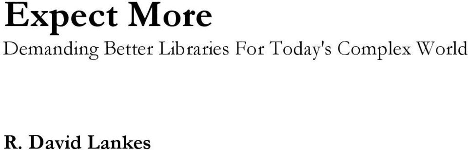 Libraries For