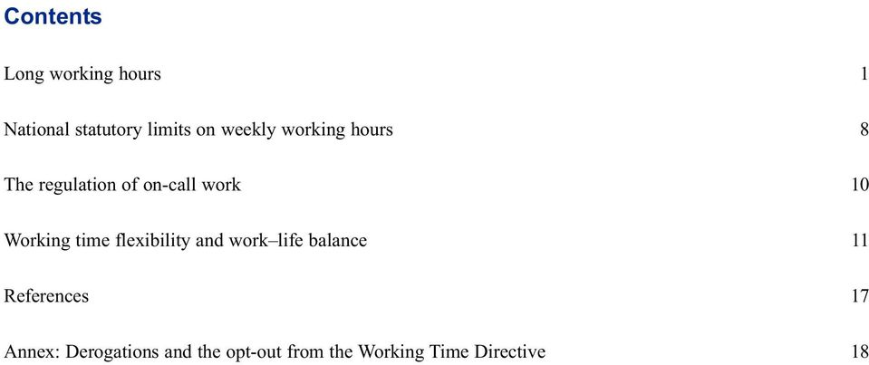 time flexibility and work life balance References Annex: