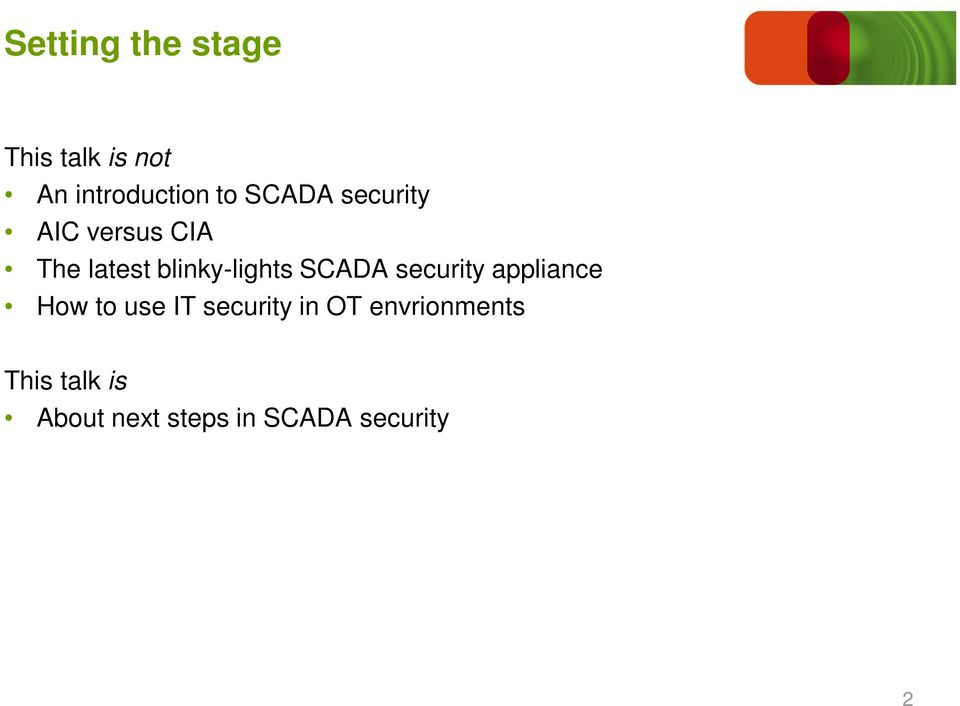 SCADA security appliance How to use IT security in OT