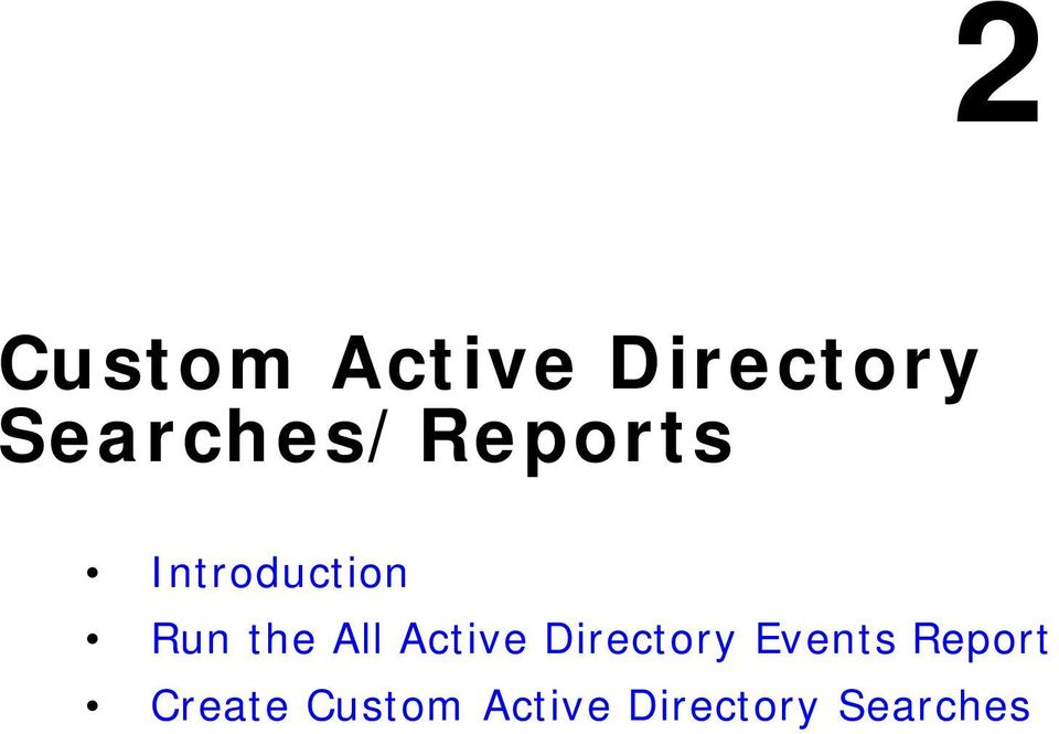 the All Active Directory Events