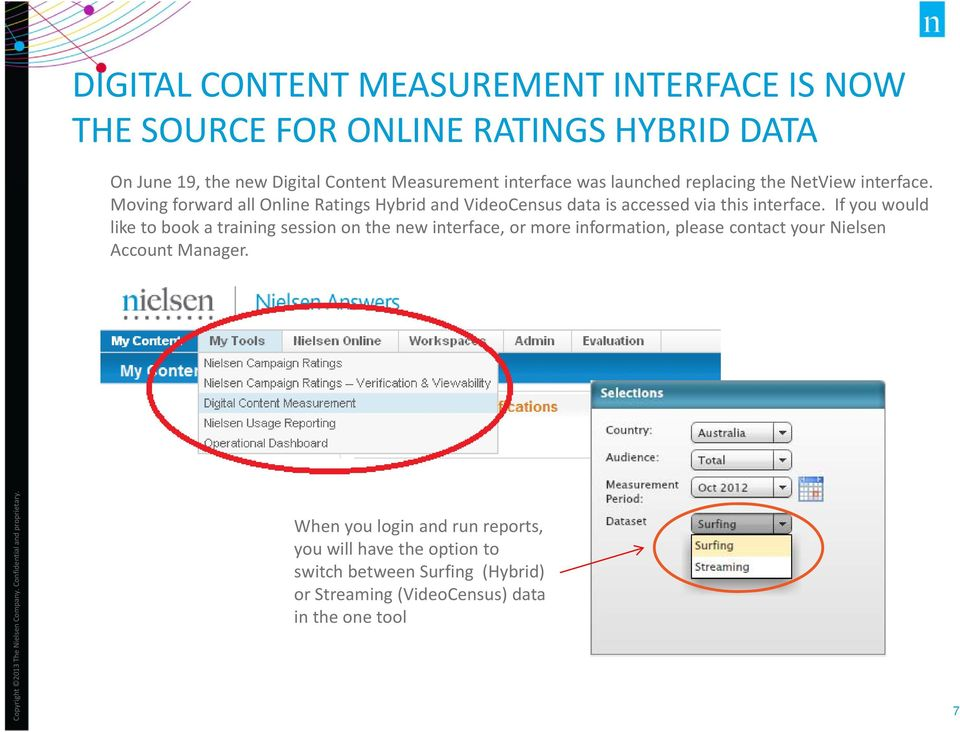 Moving forward all Online Ratings Hybrid and VideoCensus data is accessed via this interface.