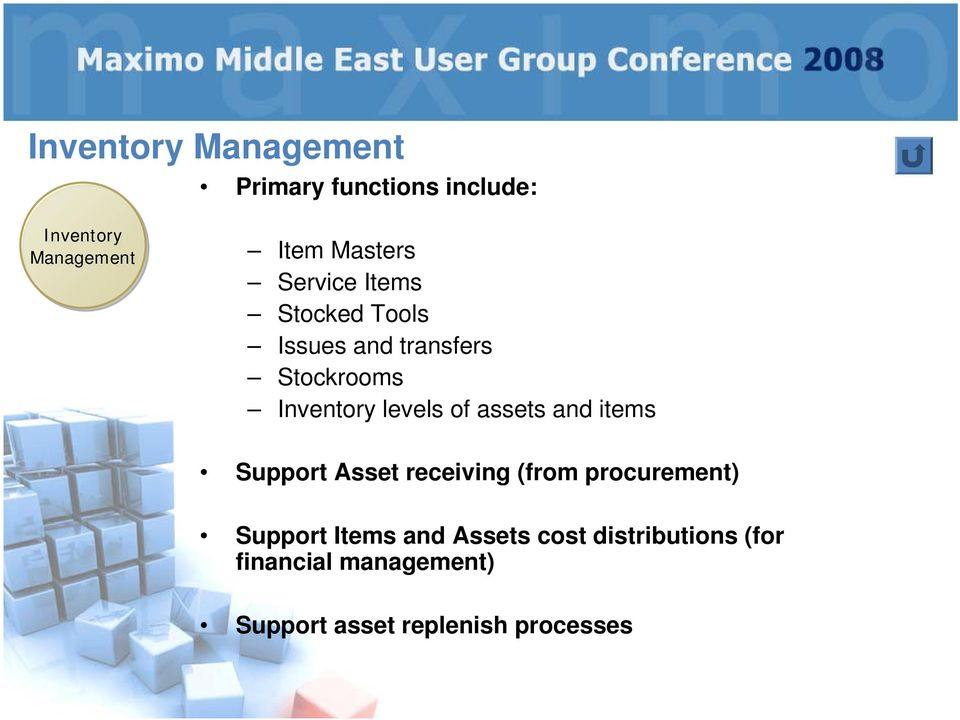 assets and items Support Asset receiving (from procurement) Support Items and