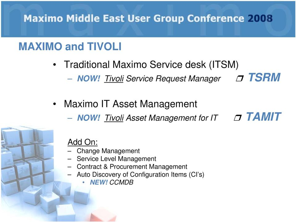 Tivoli Asset Management for IT TAMIT Add On: Change Management Service Level