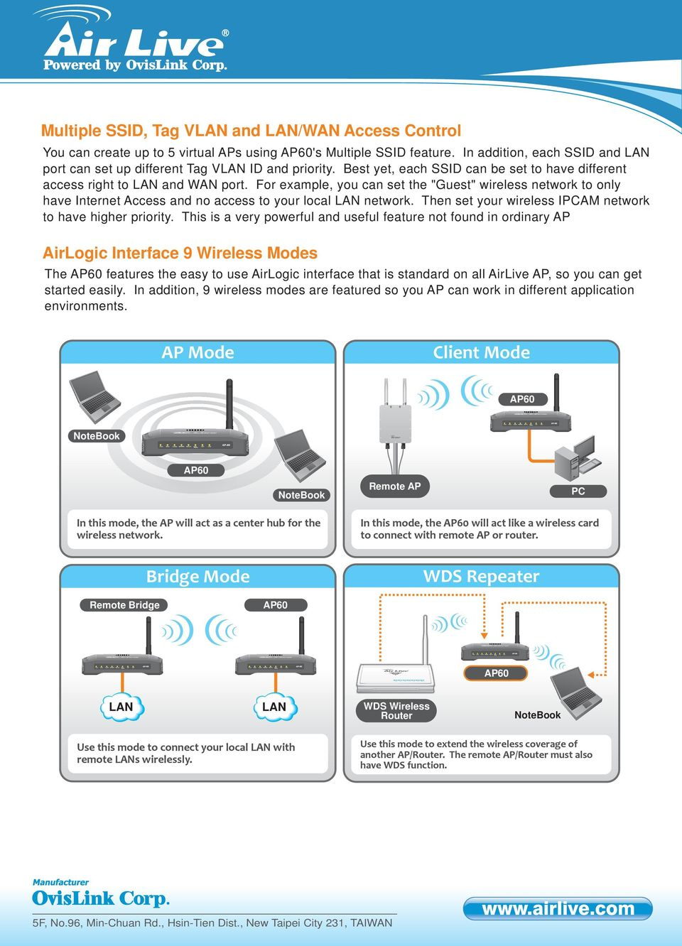 "For example, you can set the ""Guest"" wireless network to only have Internet Access and no access to your local LAN network. Then set your wireless IAM network to have higher priority."