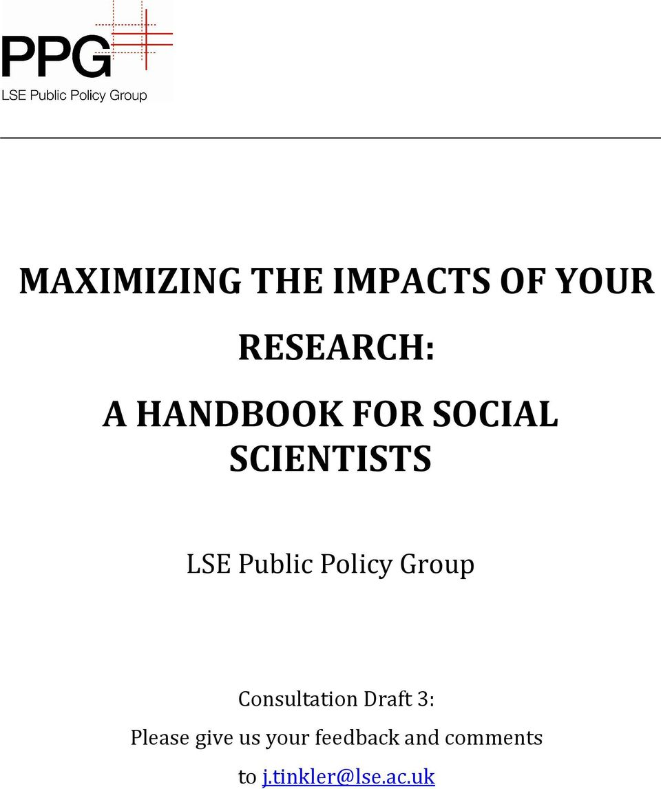 Policy Group Consultation Draft 3: Please