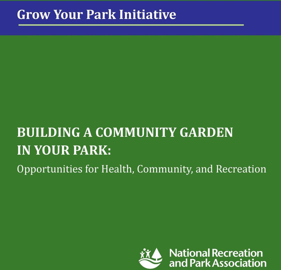 IN YOUR PARK: Opportunities