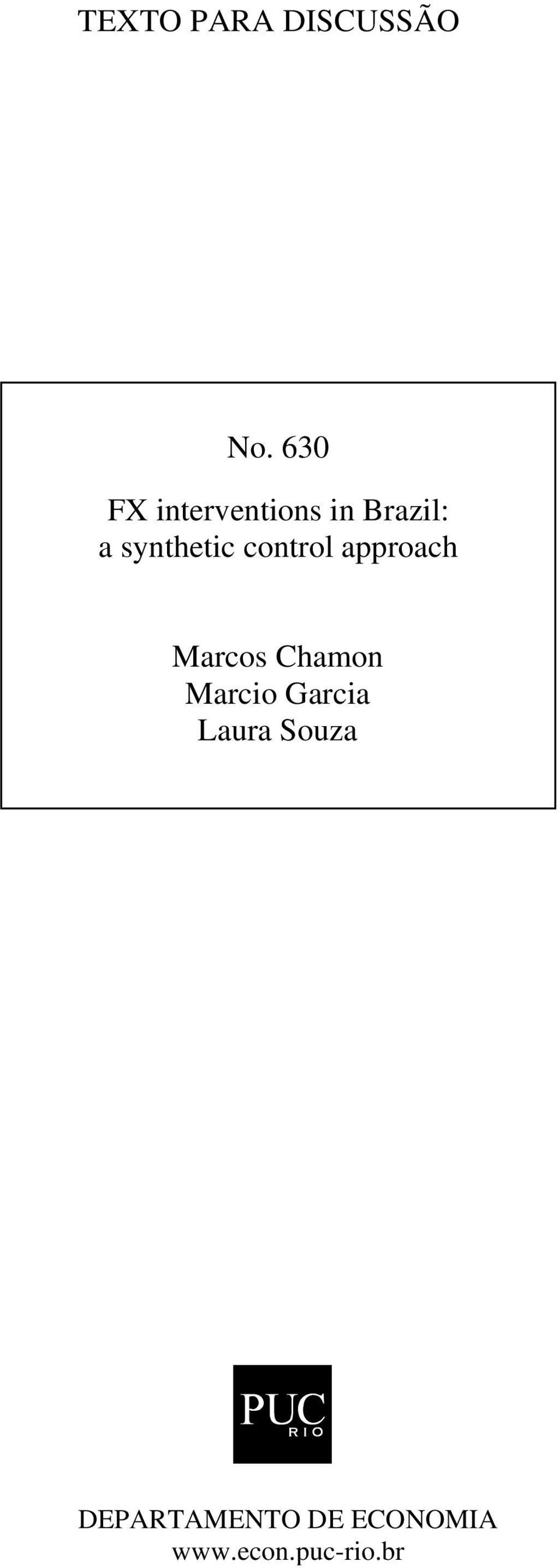 synthetic control approach Marcos Chamon