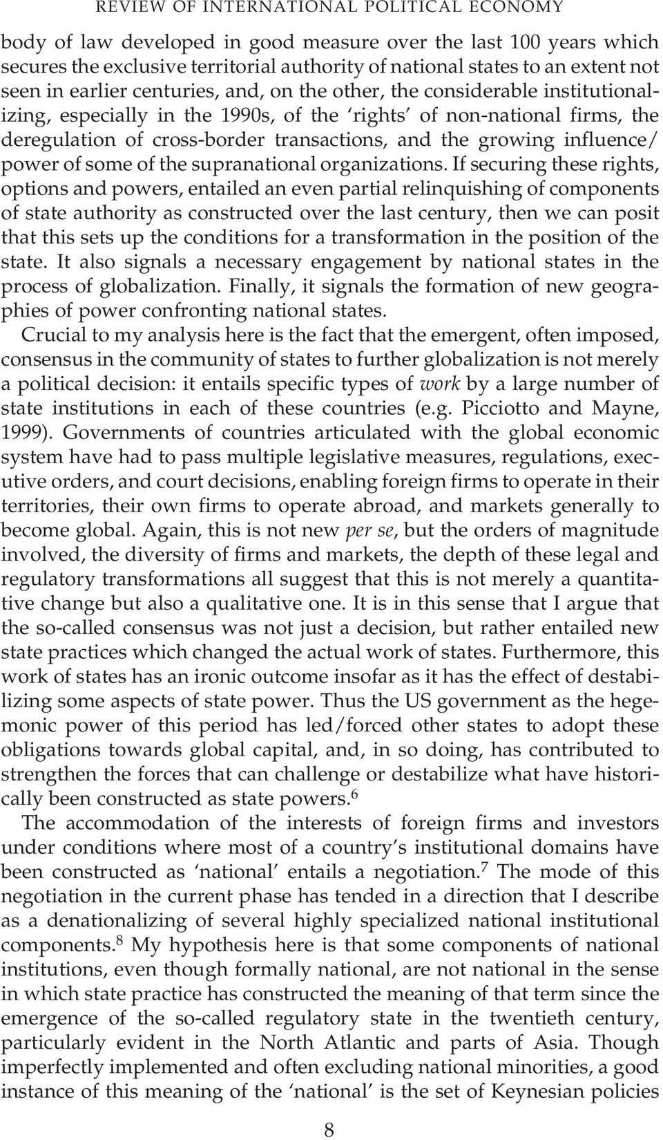 influence/ power of some of the supranational organizations.