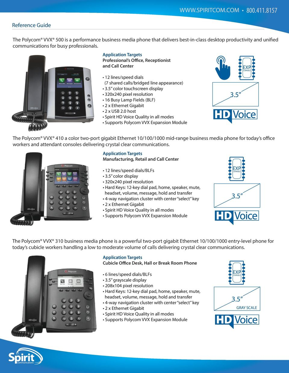 Polycom VVX 410 a color two-port gigabit Ethernet 10/100/1000 mid-range business media phone for today s office workers and attendant consoles delivering crystal clear communications.