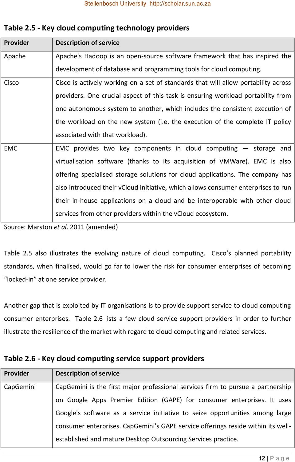 tools for cloud computing. Cisco Cisco is actively working on a set of standards that will allow portability across providers.