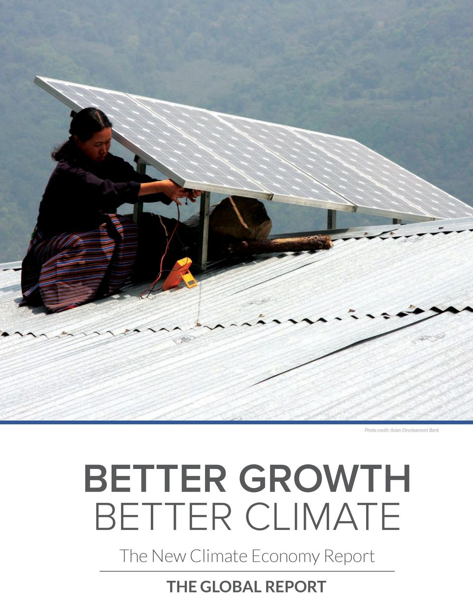 GROWTH BETTER CLIMATE The