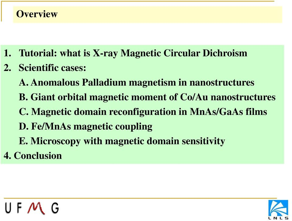 Giant orbital magnetic moment of Co/Au nanostructures C.