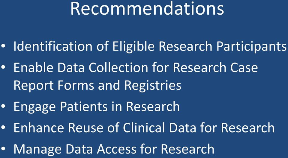 Report Forms and Registries Engage Patients in Research