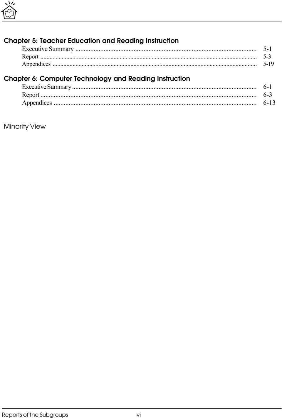Computer Technology and Reading Instruction Executive Summary