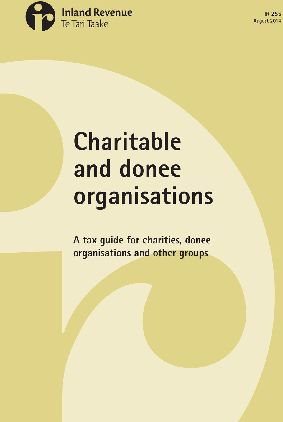 guide for charities, donee
