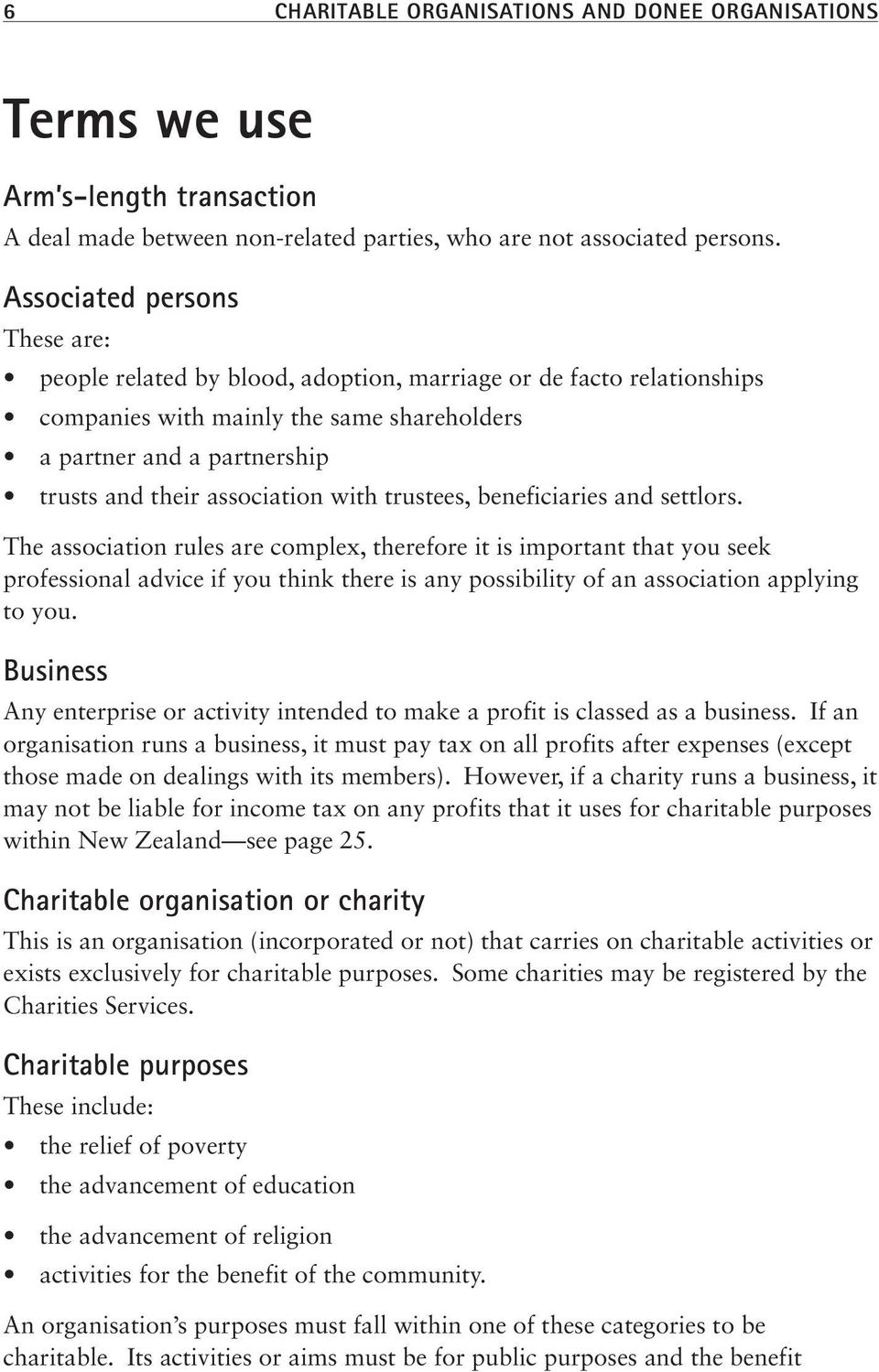 association with trustees, beneficiaries and settlors.