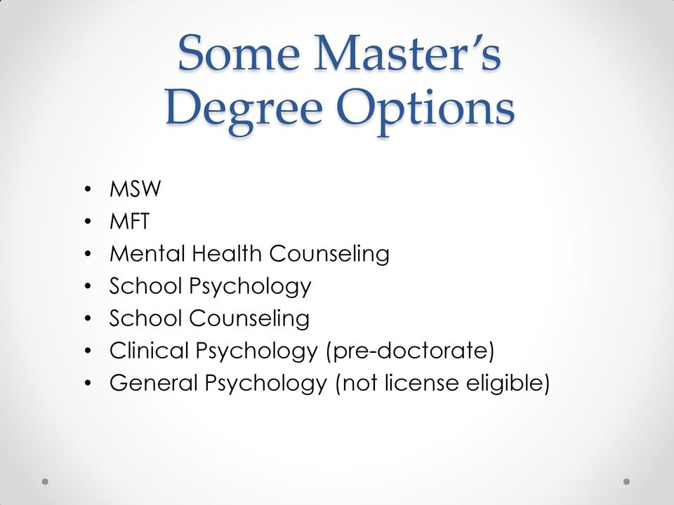 Counseling Clinical Psychology