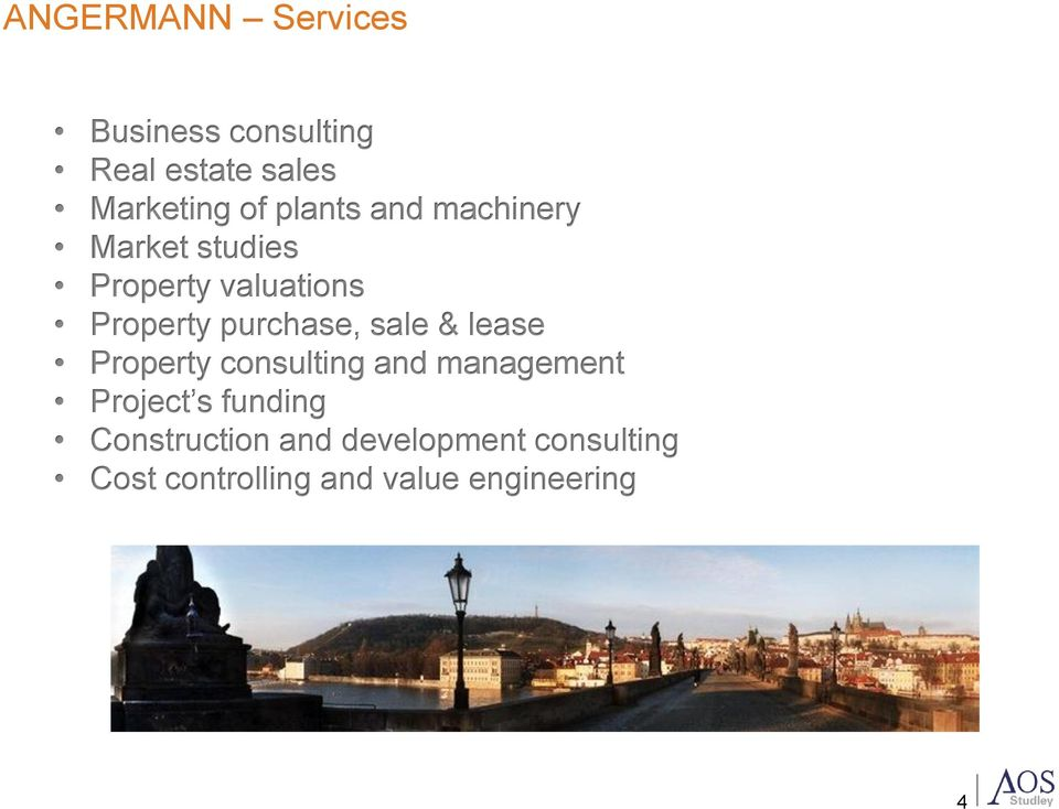 purchase, sale & lease Property consulting and management Project s