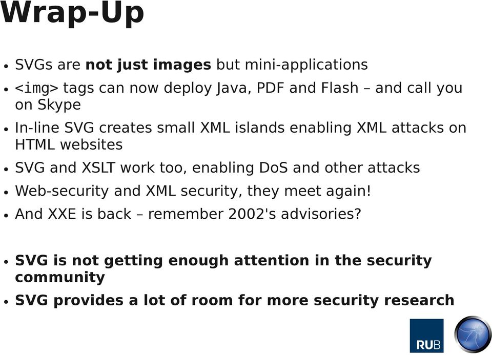 enabling DoS and other attacks Web-security and XML security, they meet again!