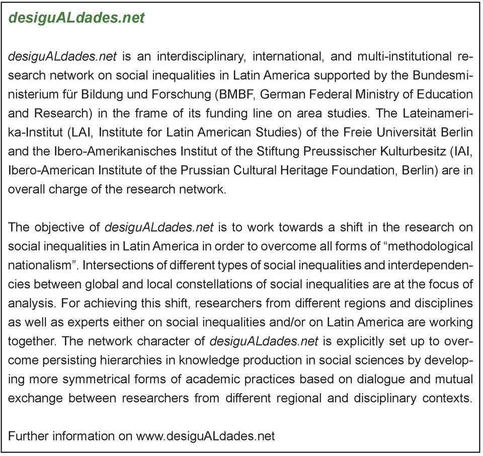 Federal Ministry of Education and Research) in the frame of its funding line on area studies.