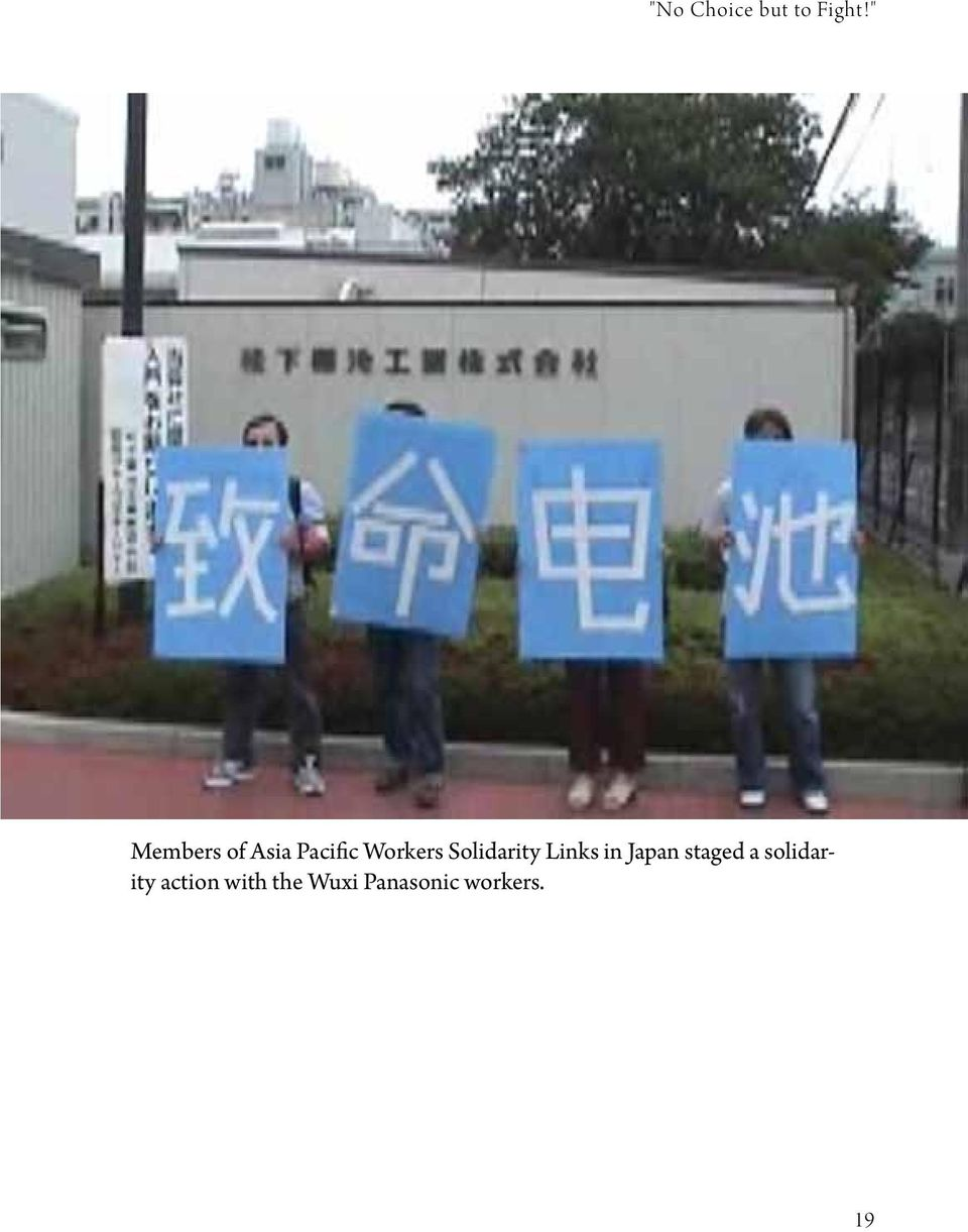 Solidarity Links in Japan staged a