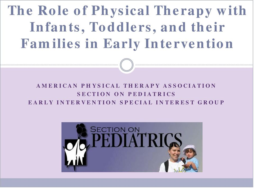 Intervention AMERICAN PHYSICAL THERAPY