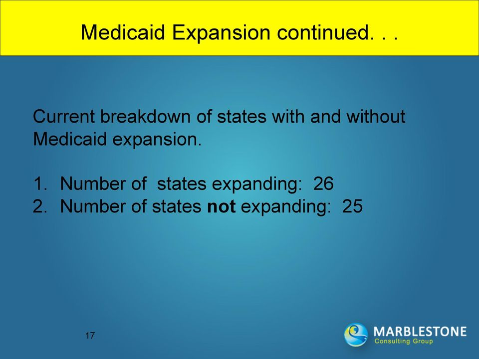 without Medicaid expansion. 1.