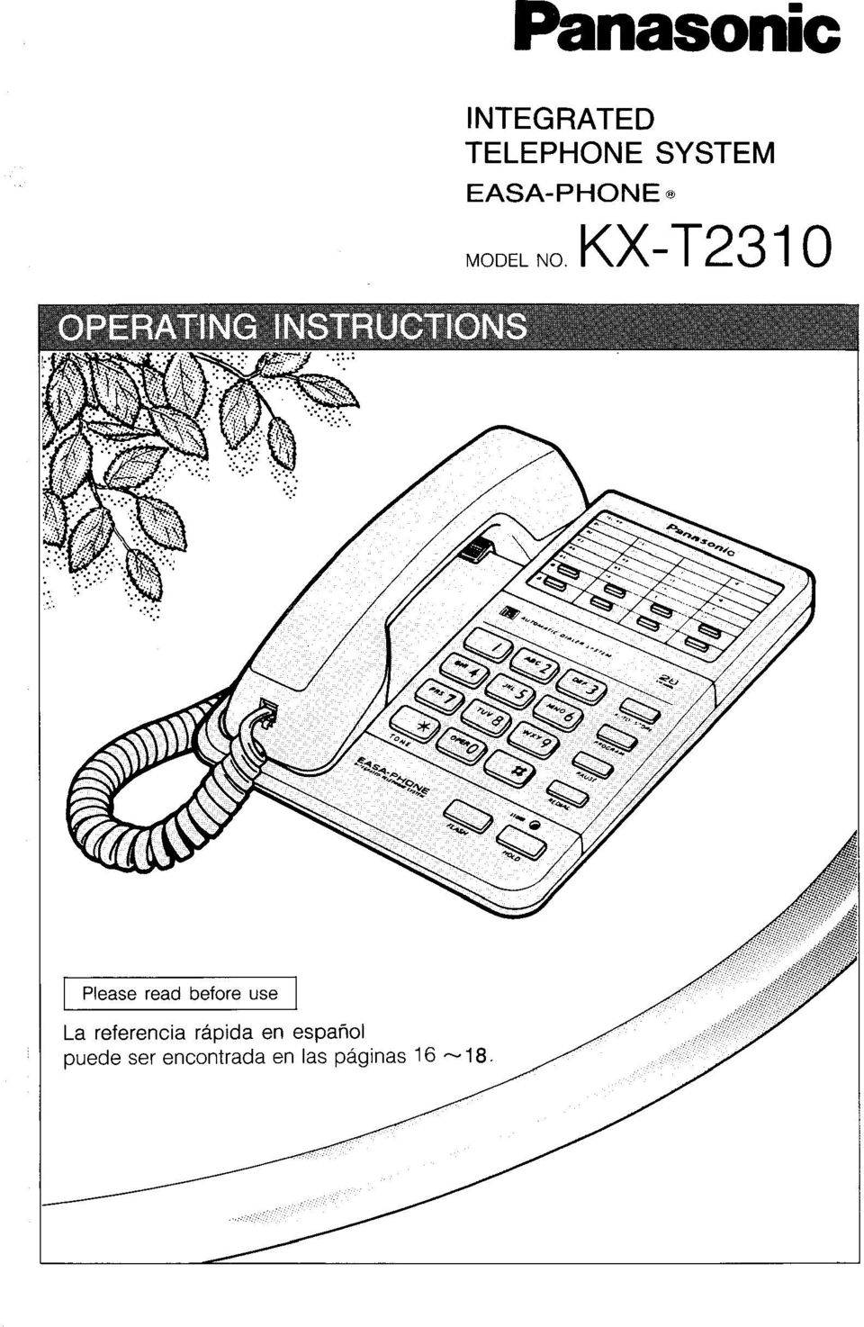 KX-T23 0 Pease read before use La