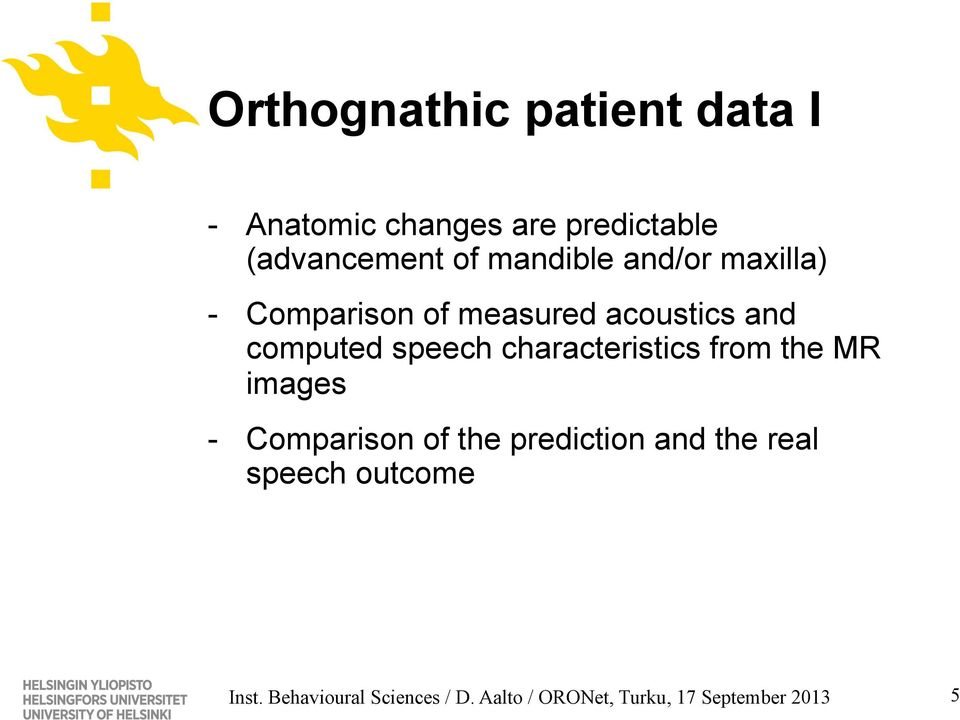 characteristics from the MR images - Comparison of the prediction and the real