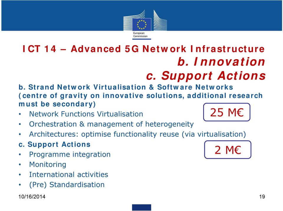 be secondary) 25 M Network Functions Virtualisation Orchestration & management of heterogeneity Architectures: